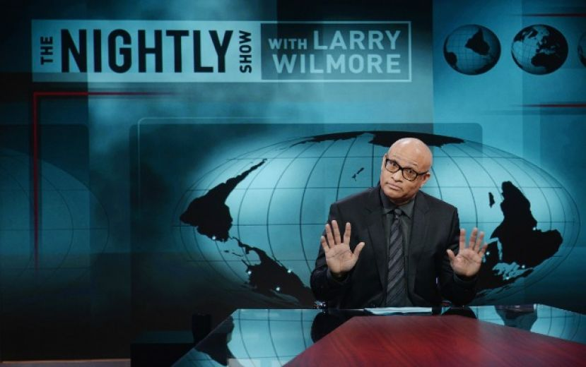 Larry Wilmore on the set of his old Comedy Central show, The Nightly Show with Larry Wilmore