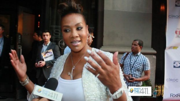 Actress/producer, Vivica A. Fox, on the red carpet to attend NY Giants' Justin Tuck's literacy initiative, Tuck's R.U.S.H for Literacy