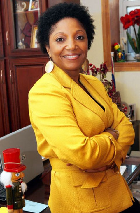 Mercedes Narcisse, candidate for New York's 19th Senatorial District, in her office