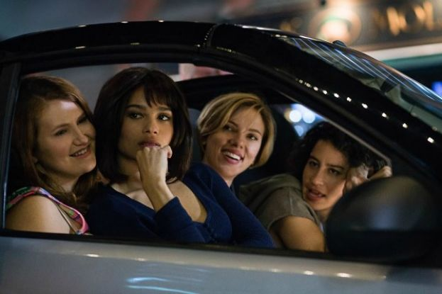 From left to right: Jillian Bell, Zoe Kravitz, Scarlett Johanssen, and Ilana Glazer, the primary cast of the movie, Rough Night