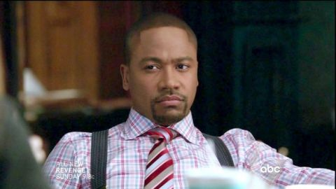 Columbus Short on the set of the hit ABC-TV series, SCANDAL