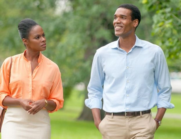 Tika Sumpter and Parker Sawyers portray the young Michelle Robinson and Barack Obama in the movie Southside With You.