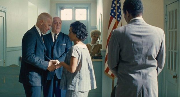 Joel Edgerton and Ruth Negga as Richard Perry Loving and Mildred Dolores Jeter in the movie Loving