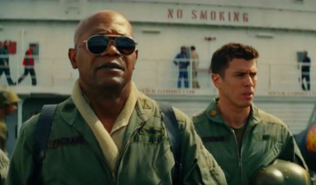 Samuel L. Jackson in the movie Kong: Skull Island