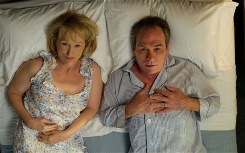 Meryl Streep and Tommy Lee Jones in the movie, Hope Springs