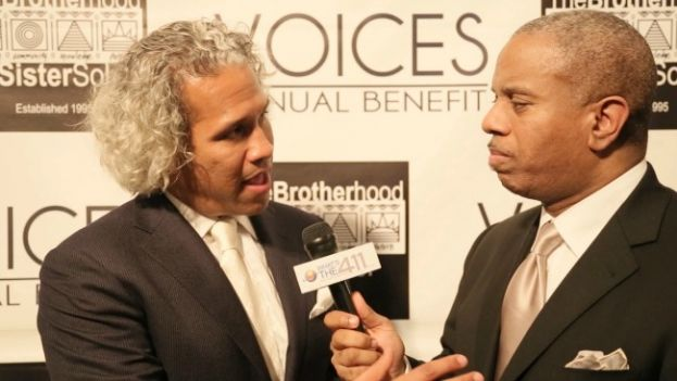 The Brotherhood/Sister Sol Executive Director and CoFounder, Khary Lazarre-White briefing What's The 411TV reporter, Glenn Gilliam, on The Brotherhood/Sister Sol