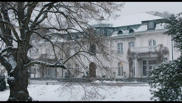 The German mansion that houses the main characters of The Aftermath
