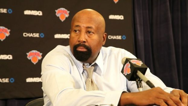 New Yok Knicks head coach Mike Woodson addressing the media