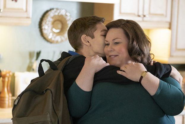 Marcel Ruiz and Chrissy Metz, as son and mother in the movie, Breakthrough.