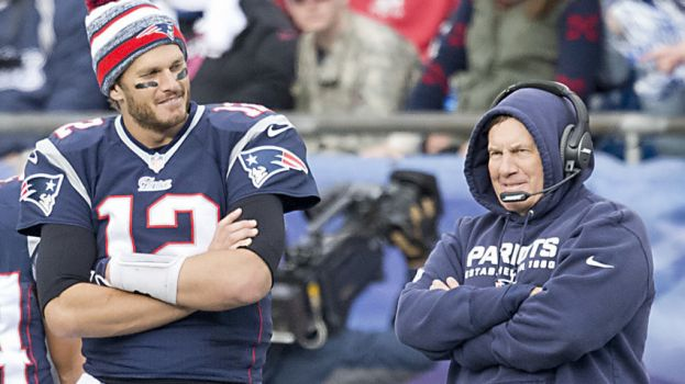 New England Patriots quarterback Tom Brady and Patriots head coach, Bill Belichick