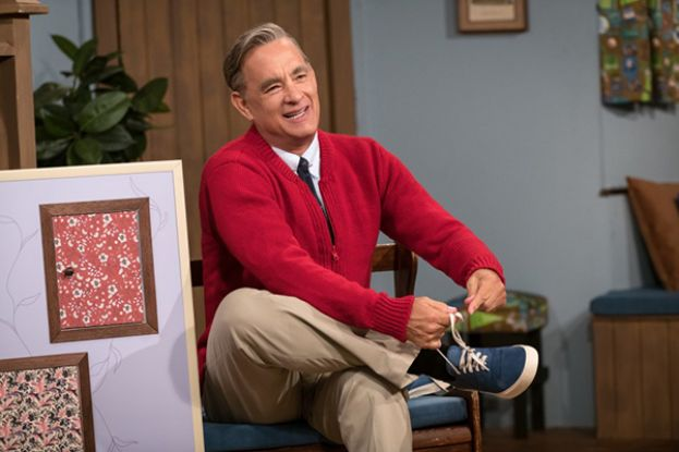 Tom Hanks as Mr. Rogers in the feature film, A Beautiful Day in the Neighborhood.