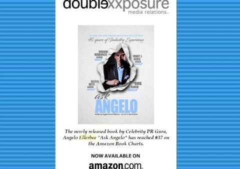 Entertainment industry insider and celebrity PR guru, Angelo Ellerbee, releases his new book, Ask Angelo