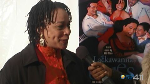 Award-winning actress S. Epatha Merkerson talking with What's the 411TV correspondent, Diana Blain, on the red carpet at the premiere of Lackawanna Blues
