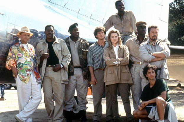Ernie Hudson (second from the left) and the principal cast of Congo