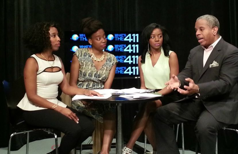 What's The 411 Hosts Kizzy Cox, Jacinda Motton, Bianca Peart, and Glenn Gilliam discussing a hot topic.