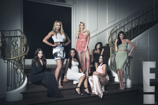 Group photo of the WAGS reality TV personalities