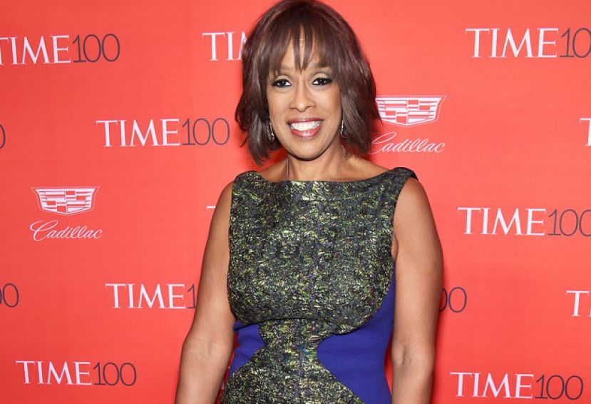 Gayle King on the red carpet at the Time 100 Gala