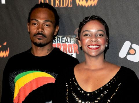 Actress Lark Voorhies and her husband, Jimmy Green, a man she me online.