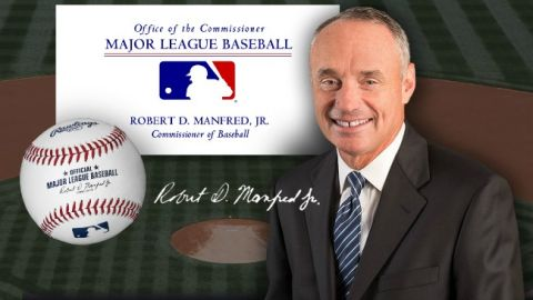 Newly minted Major League Baseball Commissioner Rob Manfred