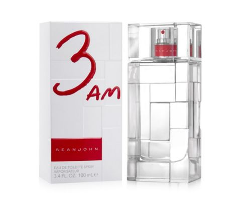 "Photo of Sean ""Diddy"" Combs 3 am Fragrance packaging"