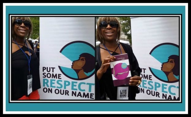 Author and poet, Gillian Alex at the Harlem Book Fair.