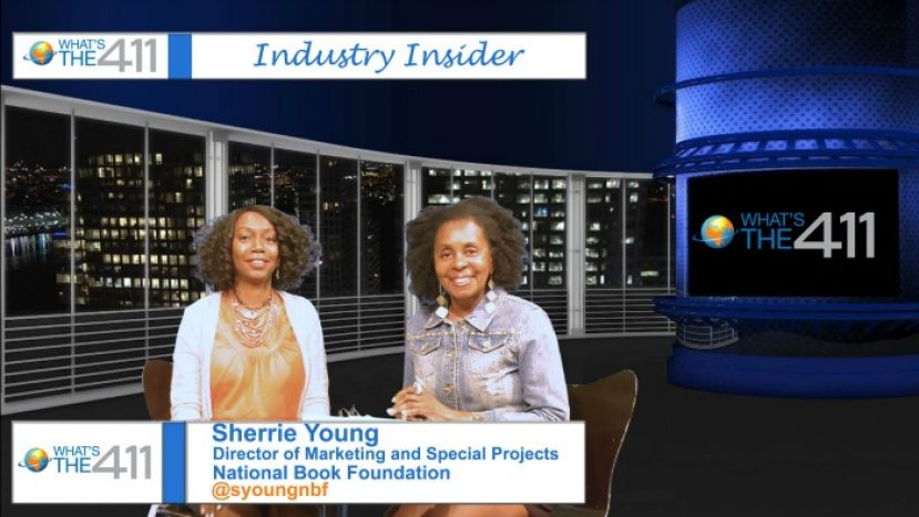 Photo: Left to Right: Sherrie Young, Director of Marketing and Special Projects,National Book Foundation; and Luvon Roberson, Book Editor, What's The 411TV