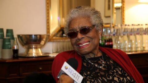 What's The 411 correspondent Kizzy Cox interviewing Dr. Maya Angelou at the National Book Awards in November 2013. Dr. Angelou passed away today at age 86