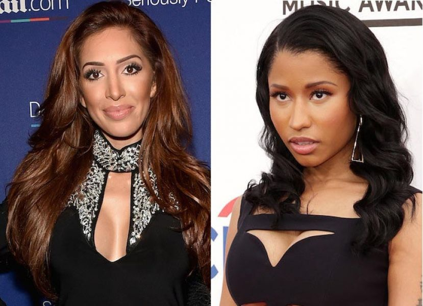 Photo from Left to right: Reality TV personality Farrah Abraham and rapper Nicki Minaj
