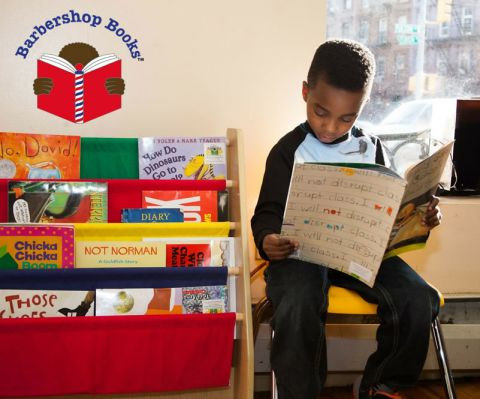 Young reader in the Barbershop