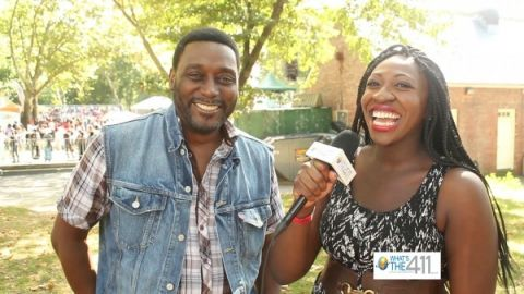 What's The 411TV correspondent Cristina Twitty interviewing Big Daddy Kane at Central Park Summerstage's 40 Years of Hip-Hop Celebration