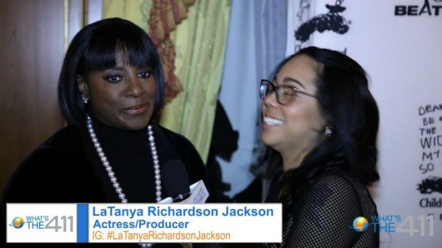 Actress LaTanya Richardson and her husband, actor Samuel L. Jackson, receive awards fromthe Children's Defense Fund
