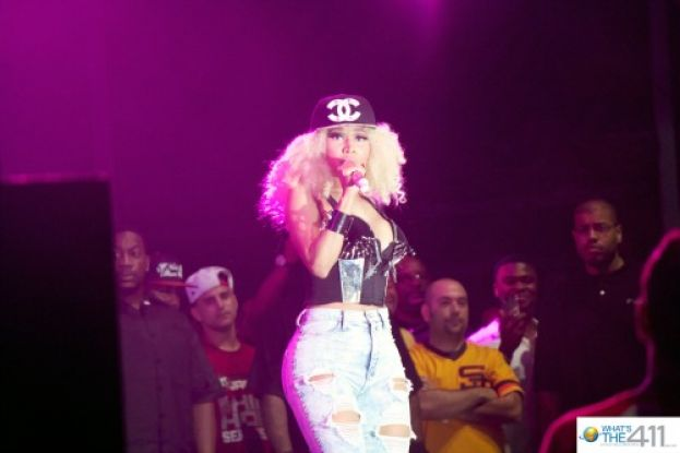 Nicki Minaj performing at Hot 97's Summer Jam concert