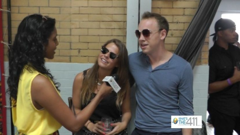 What's the 411TV reporter, Stacy Narine, talking with guests at the Brooklyn Beer and Wine Festival