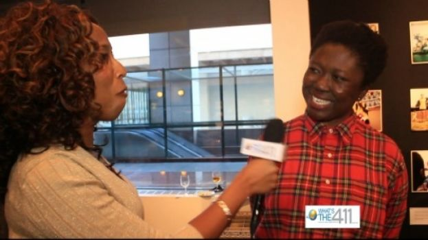 African Filmmaker Frances Bodomo talking with What's The 411's Kizzy Cox at the 20th New York African Film Festival at Lincoln Center